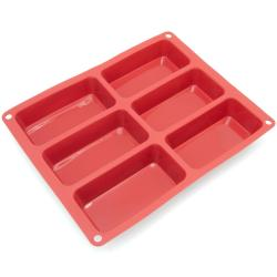 Freshware 6-cavity Silicone Mini-loaf Pan