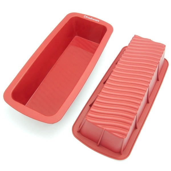Freshware 12.5-inch Silicone Loaf Pan 8072205