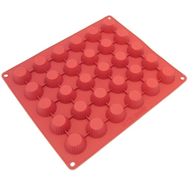 Freshware 30-cavity Silicone Chocolate, Candy, and Peanut Butter Cup Mold