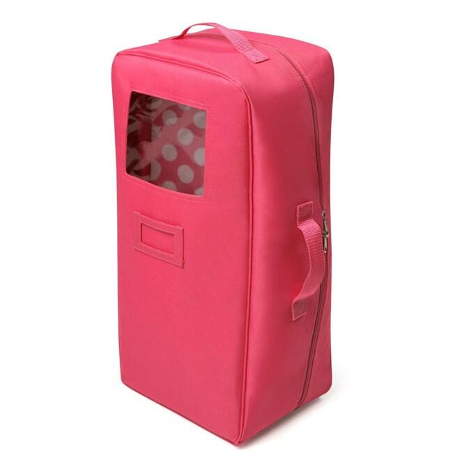 Badger Basket Dark Pink Doll Travel Case