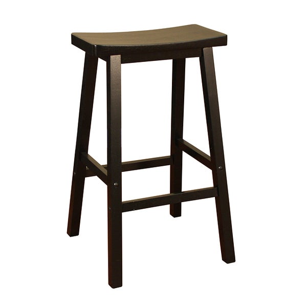 Sumatra Black 24-inch Counter Height Saddle Stool