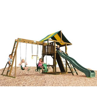 Play Time Lincoln Swing Set, Top Ladder with Rope Accessories