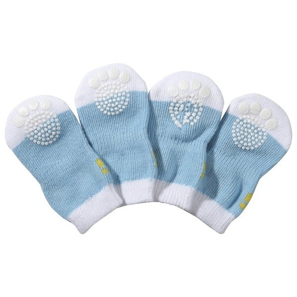 Pet Life Rubberized Soles Comfortable Winter Dog Socks (Pack of 4)