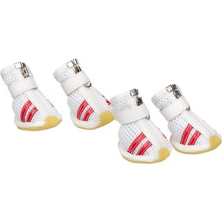 Pet Life Spring and Summer Sporty Breathable Mesh Shoes (Set of 4)