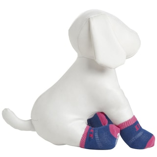 Pet Life Anti-slip Rubberized Soles Comfortable Dog Socks (Pack of 4)