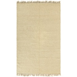 Flat-woven Earth First Natural Jute Rug (4' x 6')