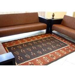 Flat-woven Prescott Wool Rug (3' x 5')