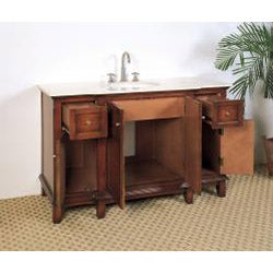 Marble Top 53-inch Single Sink Bathroom Vanity