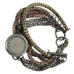 Geneva Platinum Women's Six Strand Toggle Watch