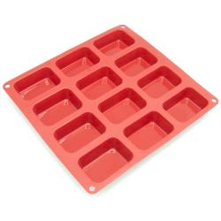 Freshware 12-cavity Silicone Petite Loaf Pan