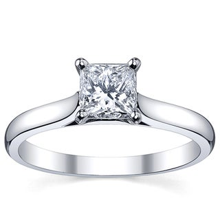 Platinum 1ct TDW White Diamond Solitaire Engagement Ring (H-I, SI1-SI2)