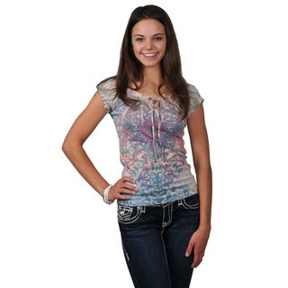 Journee M Collection Juniors Sublimation Print Top