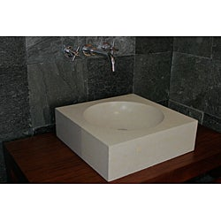 Concrete Cube Cream Sink