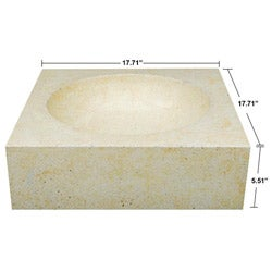 Concrete Cube Cream Sink