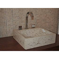 Concrete Marble Half Moon Sink