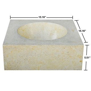 Concrete Small Cube Cream Sink