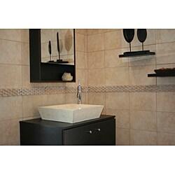 Concrete Square Incline Cream Sink