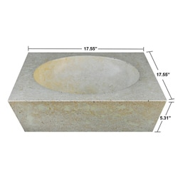 Concrete Square Incline Cream Sink