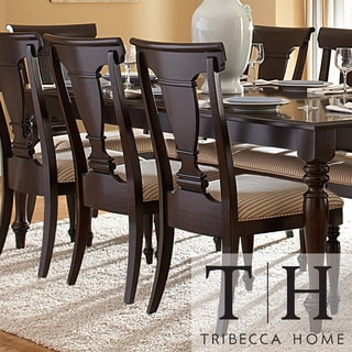 TRIBECCA HOME Clara Elegance Cherry Side Chair (Set of 2)