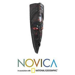 Handcrafted Wood 'Healing Power' Mask (Ghana)