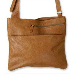 Leather 'Sands of Ica' Large Shoulder Bag (Peru)