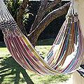 Cotton 'Floral Path' Hammock (Guatemala)