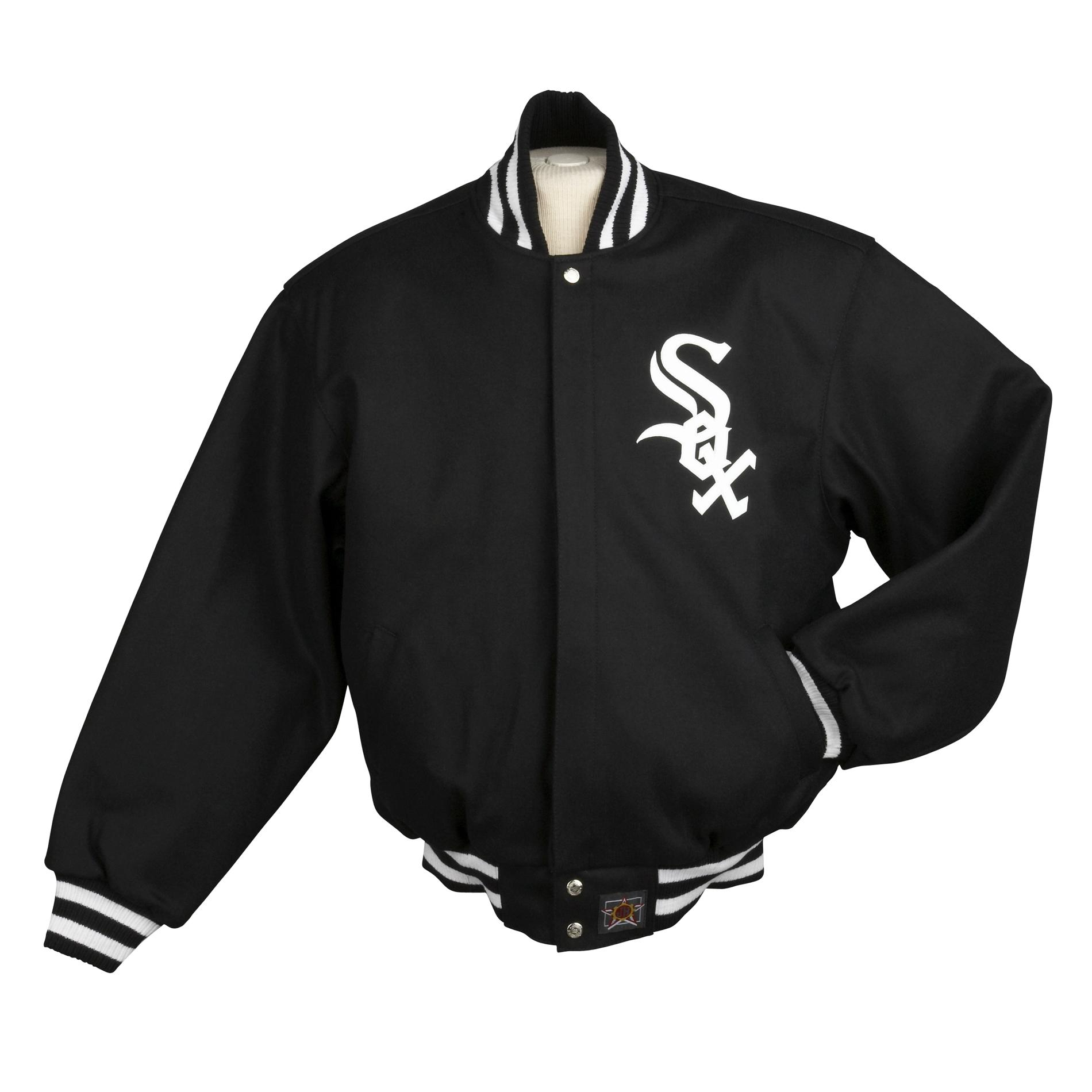 JH Designs Men's Chicago White Sox Domestic Wool Jacket