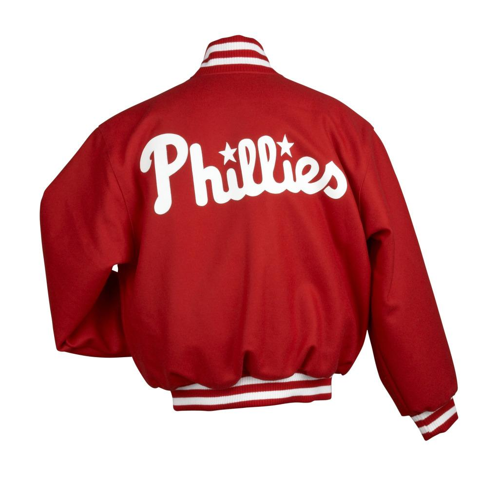 JH Designs Men's Philadelphia Phillies Domestic Wool Jacket