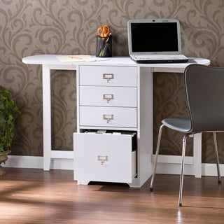 London White Fold-Out Organizer and Craft Desk