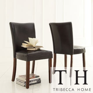 Jeremy Dark Brown Faux Leather Dining Chairs (Set of 2)
