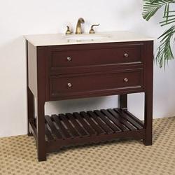 Marble Top 36-inch Single Sink Vanity