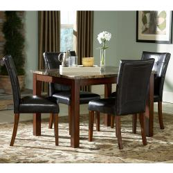 Keith Faux Marble 5-piece 48-inch Cherry Dining Set