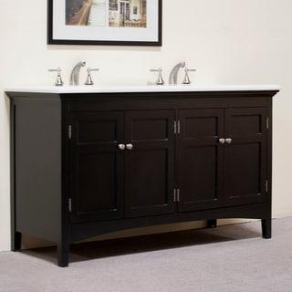 Granite Top 60-inch Double Sink Vanity