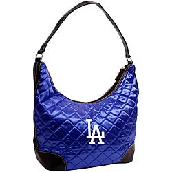 Little Earth Los Angeles Dodgers Quilted Hobo Handbag