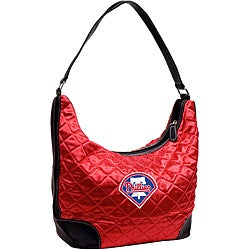 Little Earth MLB Philadelphia Phillies Quilted Hobo Handbag