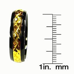 Men's Titanium Black and Gold Band