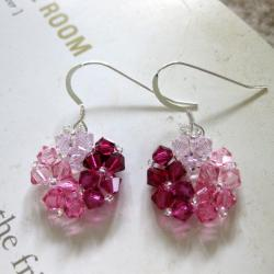 Crystal Beads Pink Circle Earrings (USA)