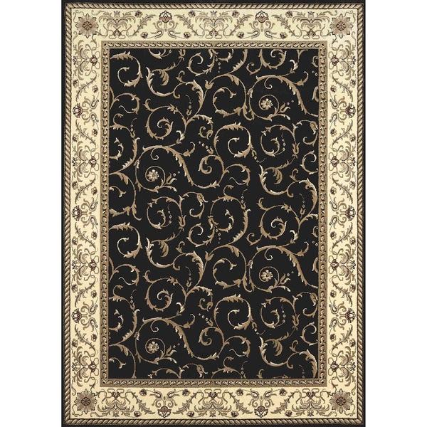 Admire Home Living amalfi Oriental Black Rug (9'10 x 12'10)