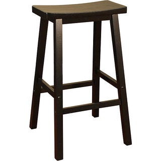Sumatra Black 29-inch Bar Saddle Stool