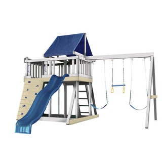 Congo Series Monkey Play System #1 White Maintenance and Splinter Free Swing Set