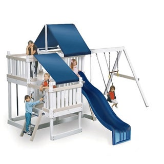 Congo Monkey Playsystem #2 White Maintenance and Splinter Free Swing Set