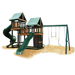 Congo Monkey Playsystem #3 Green Maintenance and Splinter Free Swing Set