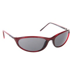 DSO Eyewear Men's 'Skinny' Burgundy Sport Sunglasses