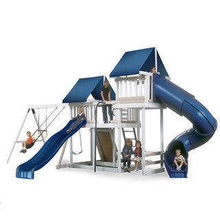 Congo Monkey Playsystem #3 White Maintenance and Splinter Free Swing Set