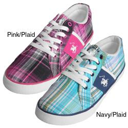 Beverly Hills Polo Women's 'Backshot' Plaid Sneakers