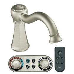 Moen Brushed Nickel High Arc Iodigital Technology Roman Tub Faucet