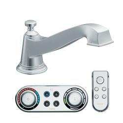 Moen Chrome Low Arc Roman Tub Faucet Includes Iodigital Technology