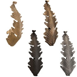 Casa Artistica by Menagerie Single Leaf Forged Metal Holdbacks (Set of Two)