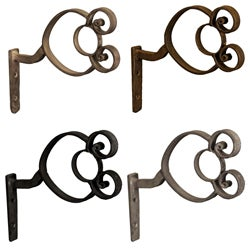 Casa Artistica by Menagerie Double-rolled Bar Brackets (Set of 2)