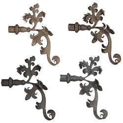 Casa Artistica by Menagerie Extended Leaf Finials (Set of 2)